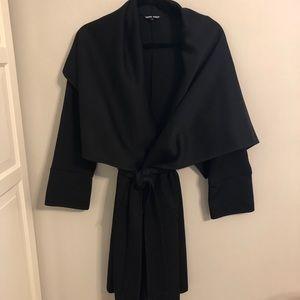 Black coat/ jacket with large collar